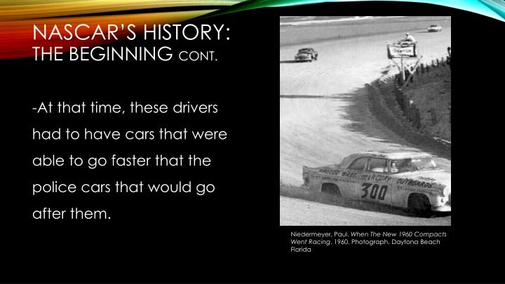 NASCAR's history: