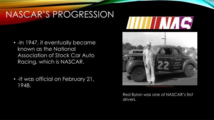 NASCAR's Progression
