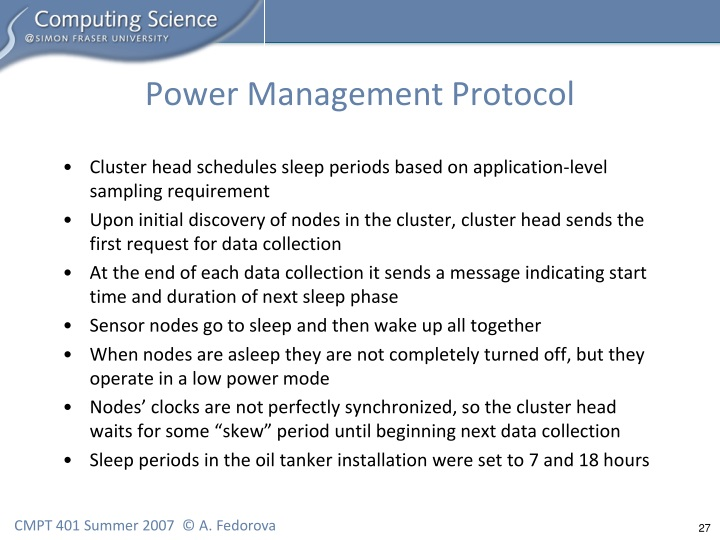 Power Management Protocol