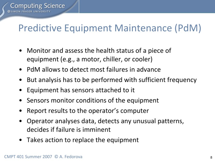 Predictive Equipment Maintenance (