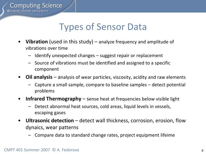 Types of Sensor Data