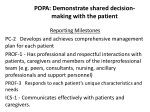 popa demonstrate shared decision making with the patient