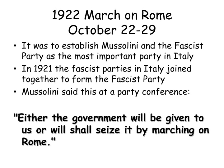 1922 March on Rome