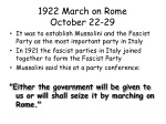1922 march on rome october 22 29