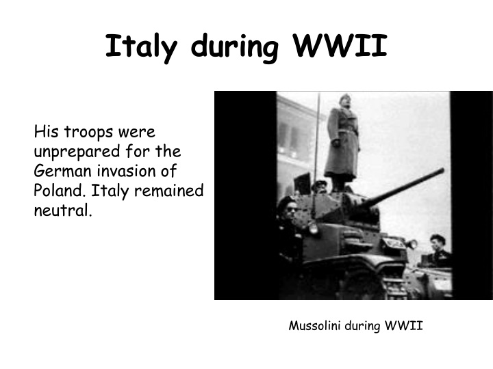 Italy during WWII
