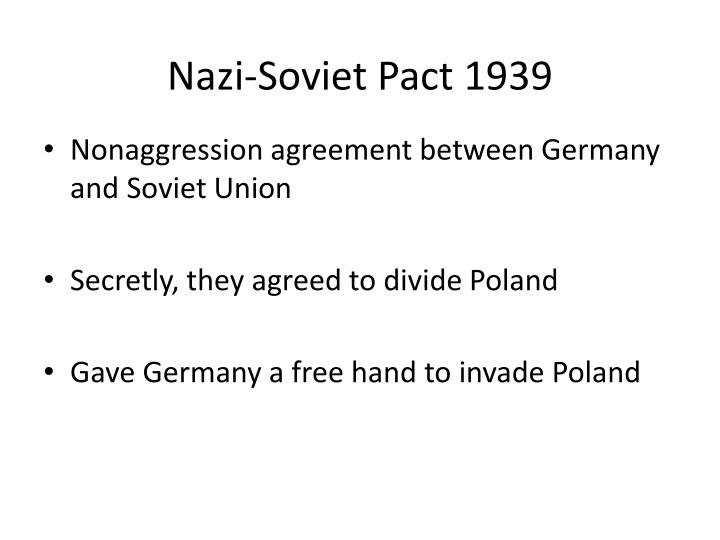 Nazi-Soviet Pact 1939