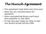 the munich agreement