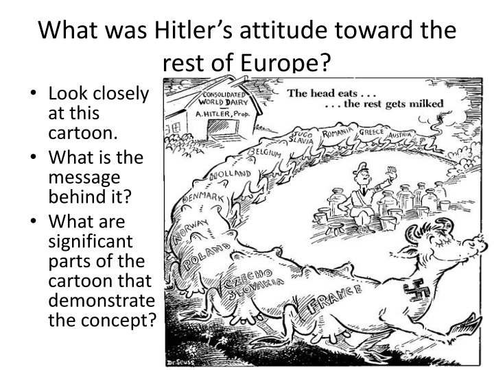 What was Hitler's attitude toward the rest of Europe?