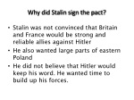 why did stalin sign the pact