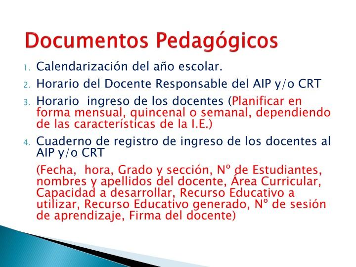 Documentos Pedagógicos