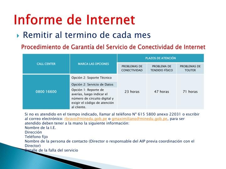 Informe de Internet