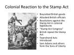 colonial reaction to the stamp act