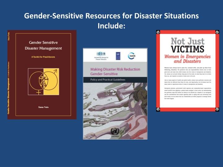 Gender-Sensitive Resources for