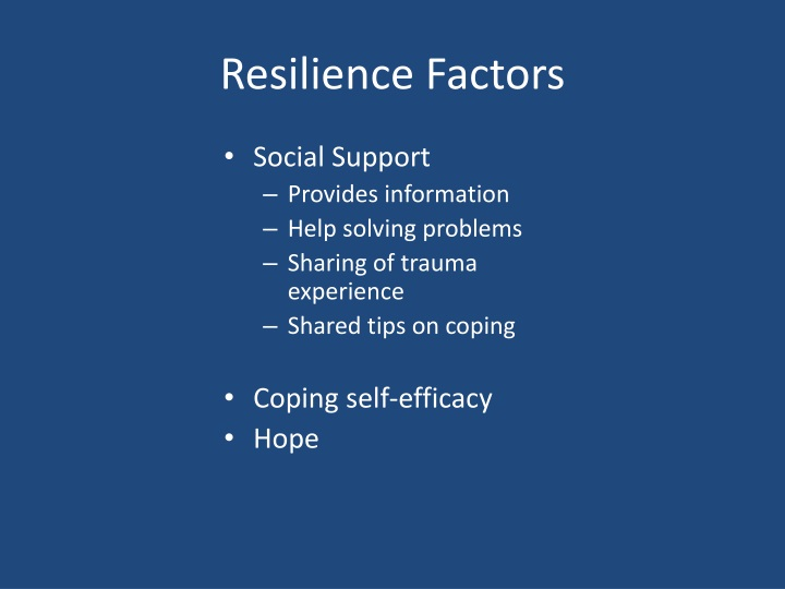 Resilience Factors