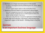 german is an important business language