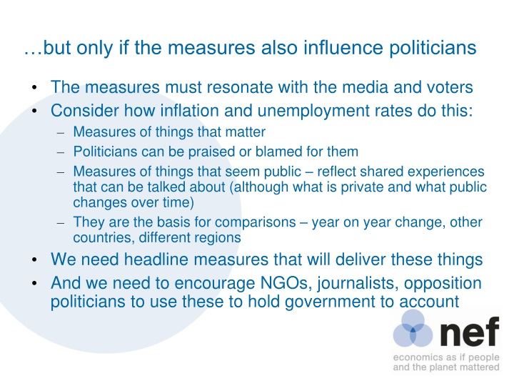 …but only if the measures also influence politicians