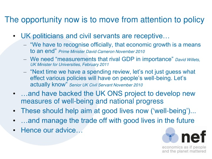 The opportunity now is to move from attention to policy