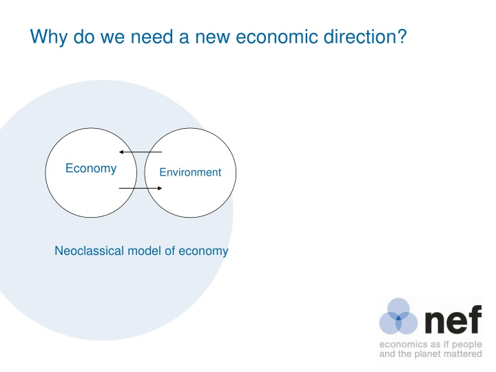 Why do we need a new economic direction
