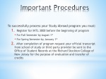 important procedures