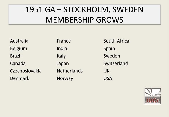 1951 GA – STOCKHOLM, SWEDEN