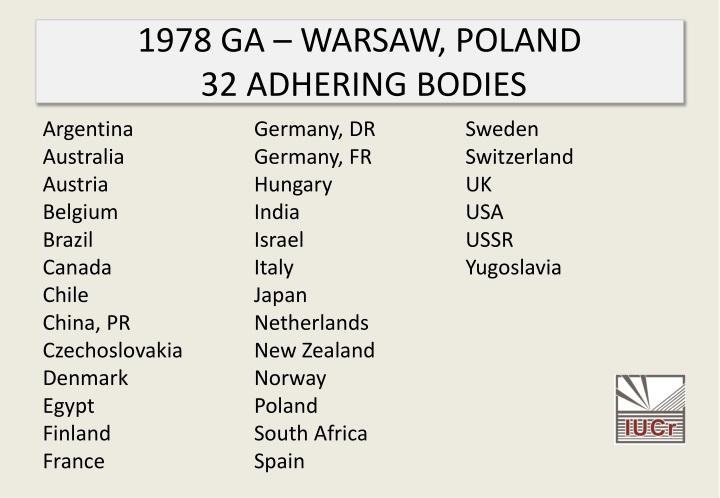 1978 GA – WARSAW, POLAND