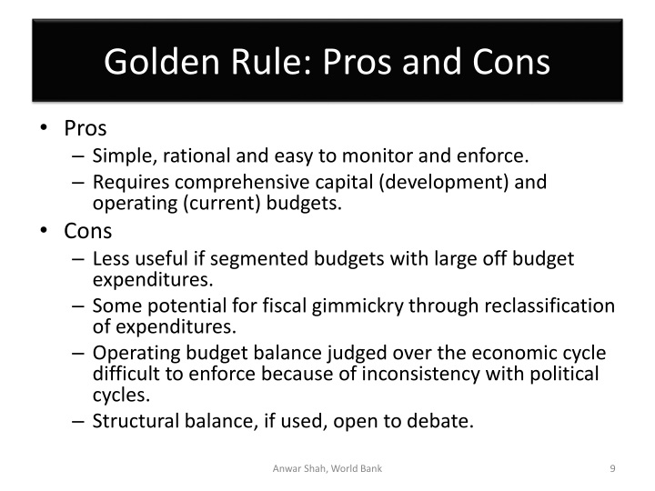 Golden Rule: Pros and Cons