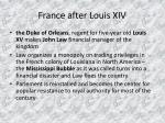 france after louis xiv