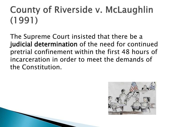County of Riverside v. McLaughlin (1991)