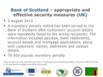 bank of scotland appropriate and effective security measures uk