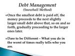 debt management snowball method1