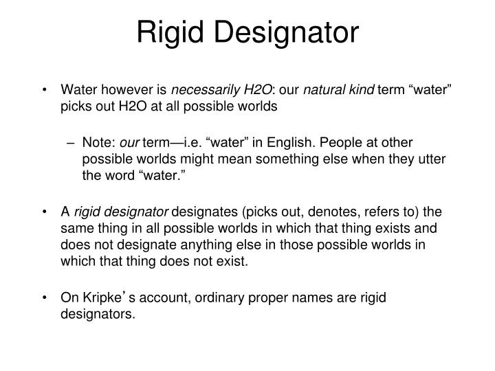 Rigid Designator