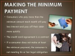 making the minimum payment