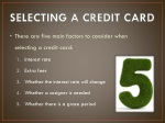 selecting a credit card