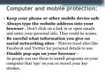 computer and mobile protection