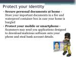 protect your identity1