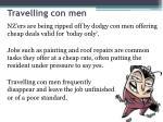 travelling con men