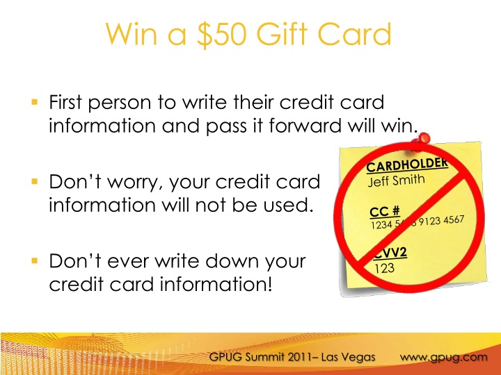 Win a $50 Gift Card