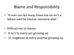 blame and responsibility