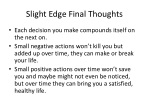 slight edge final thoughts