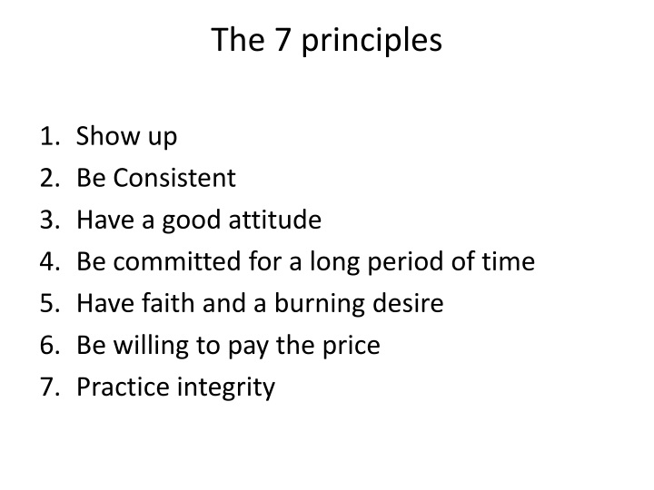 The 7 principles