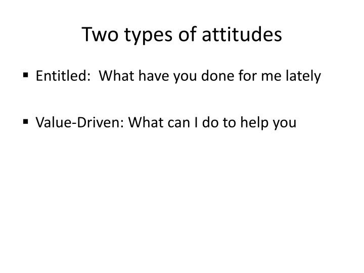 Two types of attitudes