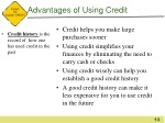 advantages of using credit