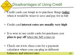 disadvantages of using credit1