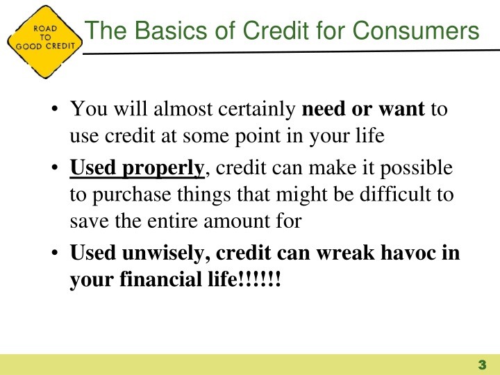 The basics of credit for consumers