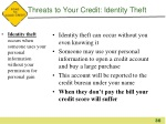 threats to your credit identity theft