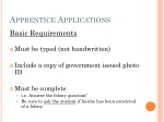 apprentice applications