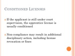 conditioned licenses
