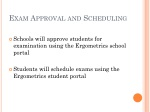 exam approval and scheduling