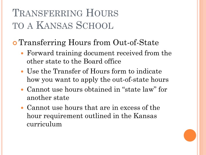 Transferring Hours
