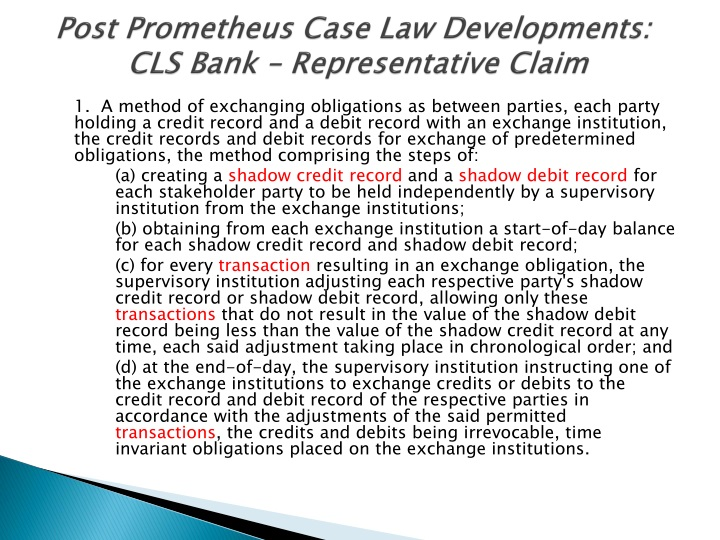 Post Prometheus Case Law Developments: